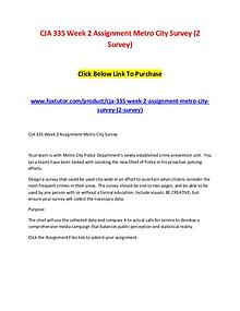 CJA 335 Week 2 Assignment Metro City Survey (2 Survey)