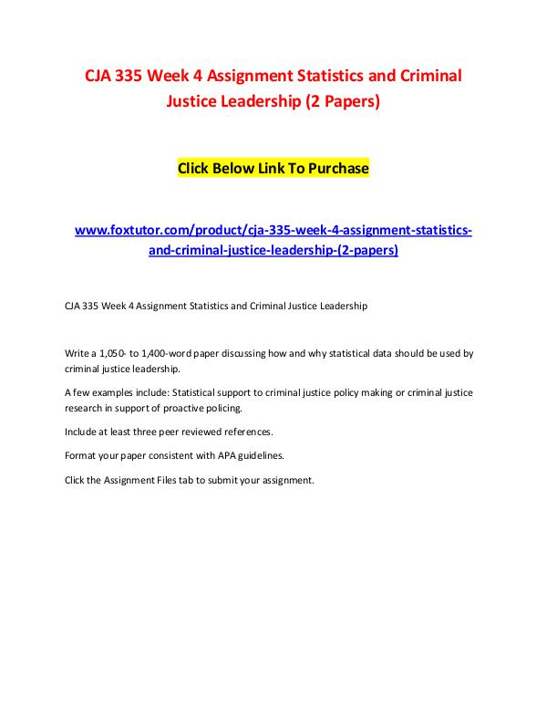 criminal justice research paper format