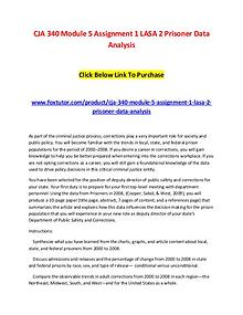 CJA 340 Module 5 Assignment 1 LASA 2 Prisoner Data Analysis