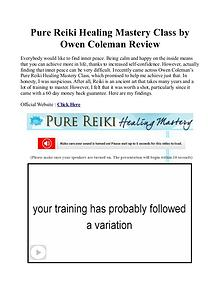 Pure Reiki Healing Mastery PDF / eBook Free Download By Owen Coleman