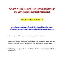 CJA 344 Week 3 Learning Team InstructionsEthnicity and Corrections Re