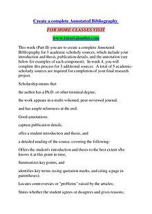 CREATE A COMPLETE ANNOTATED BIBLIOGRAPHY / TUTORIALOUTLET DOT COM