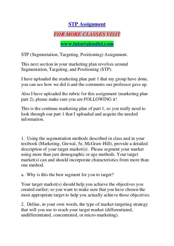 STP ASSIGNMENT / TUTORIALOUTLET DOT COM STP ASSIGNMENT / TUTORIALOUTLET DOT COM