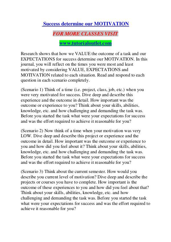 SUCCESS DETERMINE OUR MOTIVATION / TUTORIALOUTLET DOT COM SUCCESS DETERMINE OUR MOTIVATION / TUTORIALOUTLET