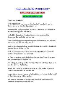 ENOCH AND THE GORILLA ENOCH EMERY / TUTORIALOUTLET DOT COM