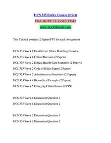 HCS 335 STUDY Extraordinary Success/hcs335study.com