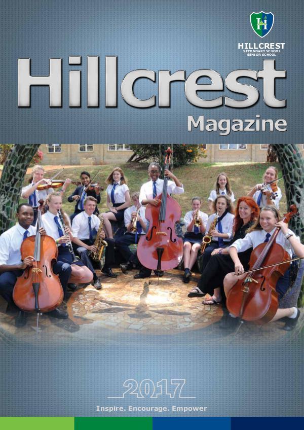 HILLCREST SECONDARY SCHOOL Final HILLCREST MAG 2017