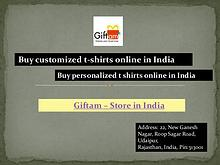Buy customized t-shirts online in India