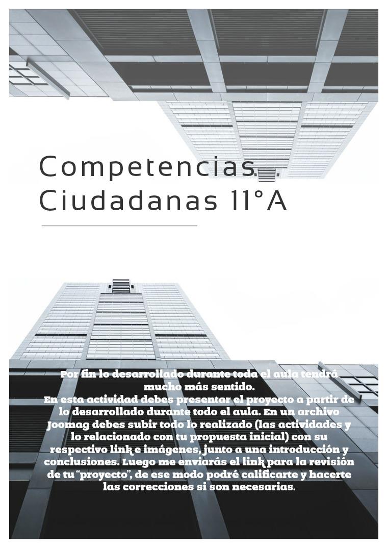 Competencias Ciudadanas 11°A - Esteban Montoya Ruiz Competencias Ciudadanas