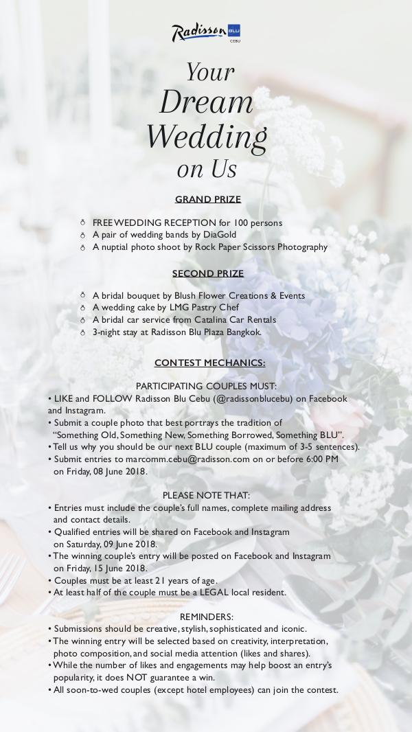Your Dream Wedding On Us Your Dream Wedding On Us Contest Mechanics