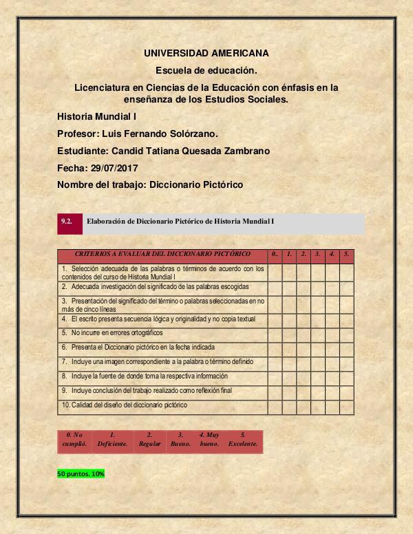 Diccionario Pictórico Candid Quesada Diccionario Pictorico