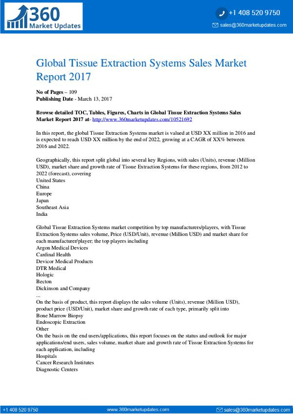 Reports Tissue-Extraction-Systems-Sales-Market-Report-2017