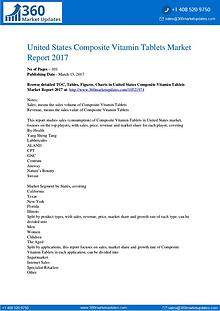 Reports Research Composite-Vitamin-Tablets-Market-Report-2017