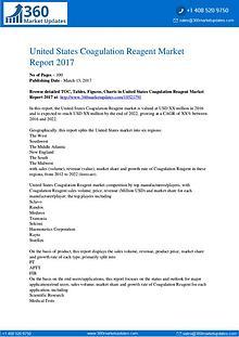 Reports Research Coagulation-Reagent-Market-Report-2017