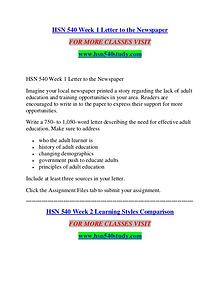 HSN 540 STUDY Extraordinary Success/hsn540study.com