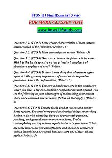 BUSN 115 STUDY Extraordinary Success /busn115study.com