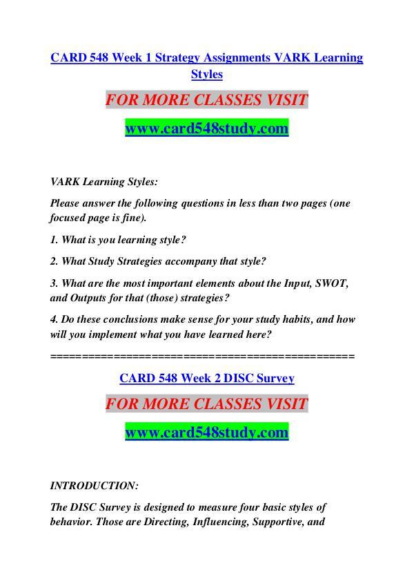 CARD 548 STUDY Extraordinary Success /card548study.com CARD 548 STUDY Extraordinary Success /card548stud