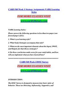 CARD 548 STUDY Extraordinary Success /card548study.com