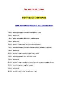 CJA 353 Entire Course