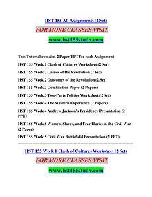 HST 155 STUDY Extraordinary Success/hst155study.com