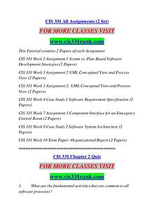 CIS 331 RANK Extraordinary Success /cis331rank.com