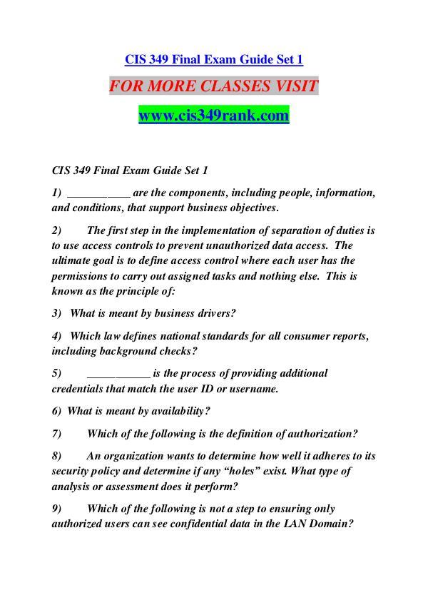 CIS 349 RANK Extraordinary Success /cis349rank.com CIS 349 RANK Extraordinary Success /cis349rank.com