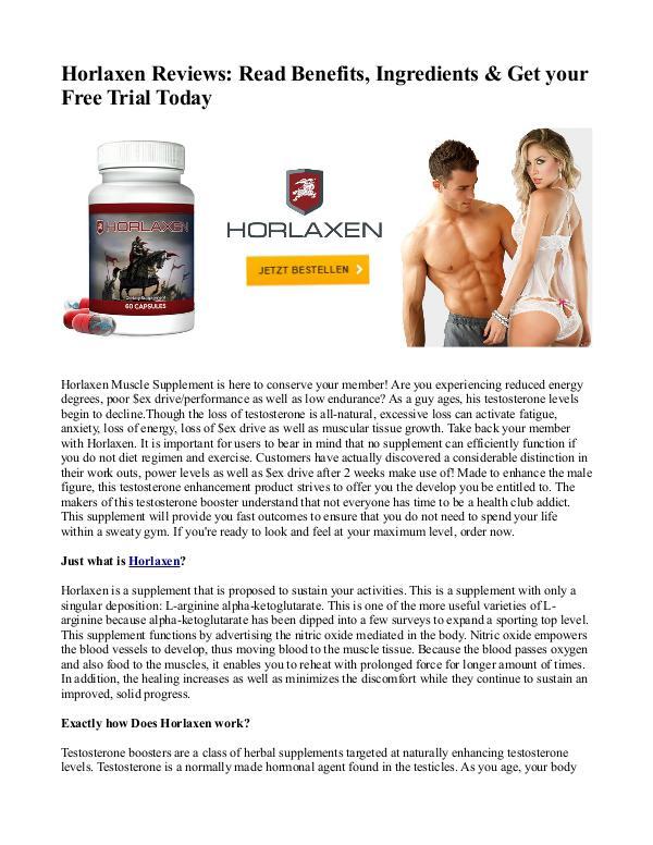 Horlaxen Reviews: Read Benefits, Ingredients & Get your Free Trial To Horlaxen Reviews- Read Benefits, Ingredients & Get
