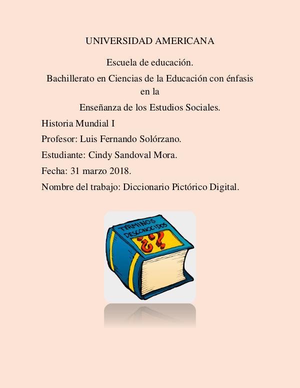 diccionario de Mundial I diccionario pictorico