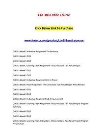 CJA 383 Entire Course
