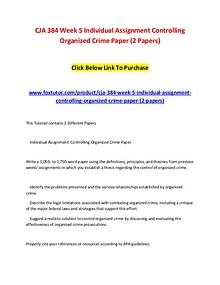 CJA 384 Week 5 Individual Assignment Controlling Organized Crime Pape