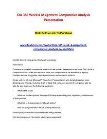 CJA 385 Week 4 Assignment Comparative Analysis Presentation