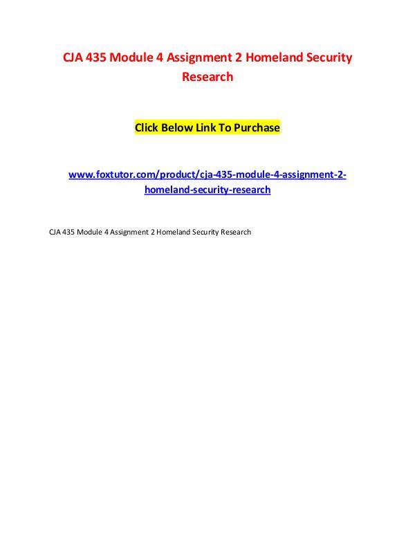 CJA 435 Module 4 Assignment 2 Homeland Security Research CJA 435 Module 4 Assignment 2 Homeland Security Re