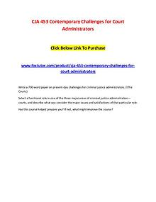 CJA 453 Contemporary Challenges for Court Administrators