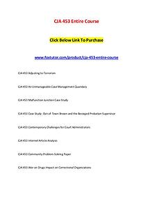 CJA 453 Entire Course