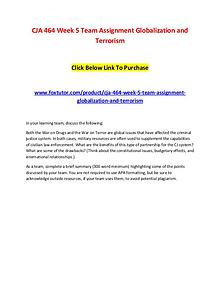 CJA 464 Week 5 Team Assignment Globalization and Terrorism
