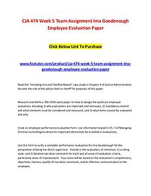 CJA 474 Week 5 Team Assignment Ima Goodenough Employee Evaluation Pap