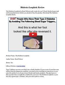 Diabetes Loophole PDF / Program Free Download