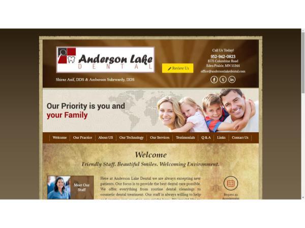 Anderson Lake Dental Eden Prairie Dentist MN  Chanhassen Dental Office