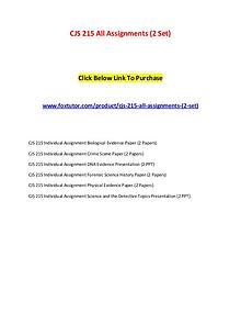 CJS 215 All Assignments (2 Set)