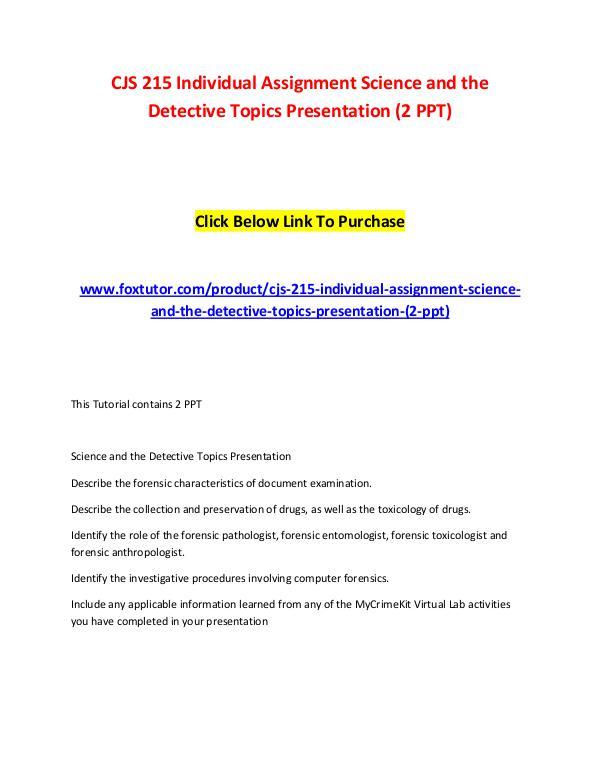 science topics for presentation