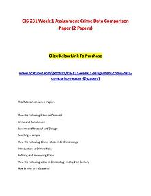 CJS 231 All Assignments (2 Set)