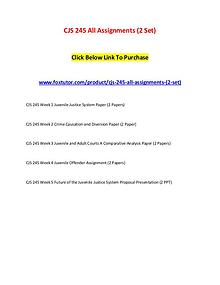 CJS 245 All Assignments (2 Set)