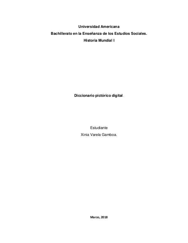 Diccionario Pictórico de Historia Mundial Diccionario pictórico de Historia Mundial
