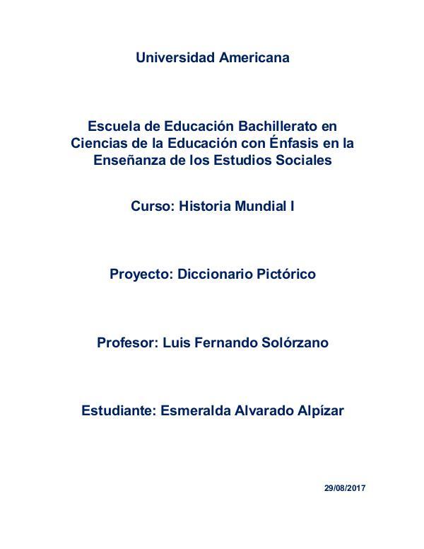 Historia Mundial I Diccionario Pictorico Mundial