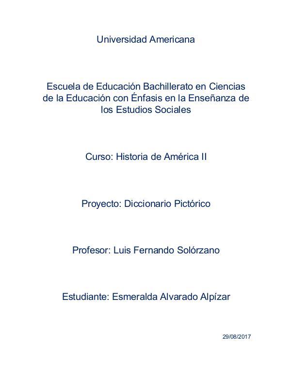 Diccionario Pictórico Historia de América II Diccionario Pictorico America II