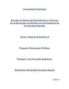 Diccionario Pictórico Historia de América II