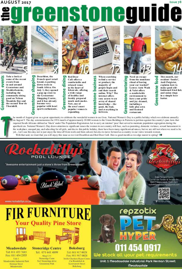 The Greenstone Guide August 2017