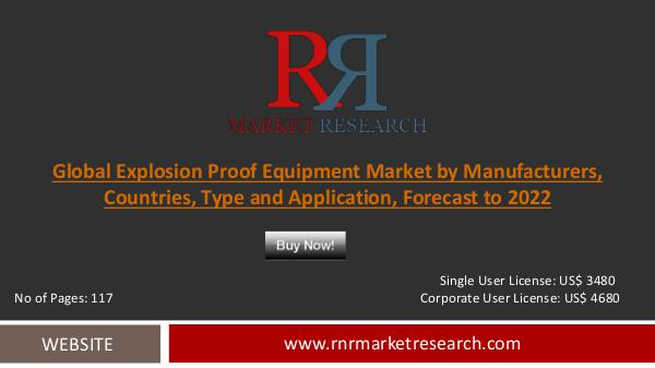 Global Explosion Proof Equipment Market 2017-2022 |Growth|Demand|Dist Explosion Proof Equiptment