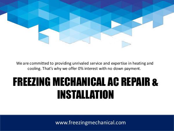 Freezing Mechanical Freezing Mechanical AC Repair & Installation