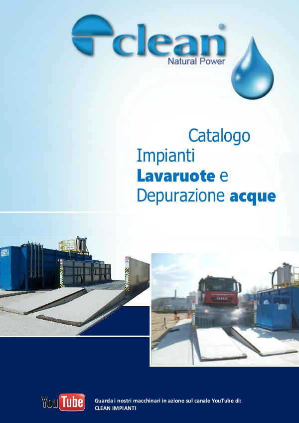 Lavaruote-Lavaggio Ruote-Wheel Washing System-Water purification 1 - CATALOGO LAVARUOTE con DEPURAZIONE - 2017